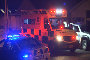 Emergency services at the scene of a double shooting in Invercargill last night. Photo / Dwayne Carey