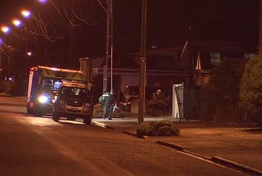 The scene in Otepuni Ave in Invercargill. Photo / Dwayne Carey