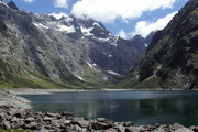 Lake Marian, Fiordland. The bodies of two climbers have been recovered from below Marian Peak in the Darran Mountains area of Fiordland. Photo / Creative Commons