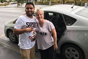 """Medical and dental software vendor Lisa Kottke, her husband Matt, and """"hero"""" Uber driver Harpal Kang who drove them from Auckland to Wellington over nine and a half hours for an urgent meeting after flights were cancelled due to Cyclone Debbie on March 29. Photo / Supplied"""
