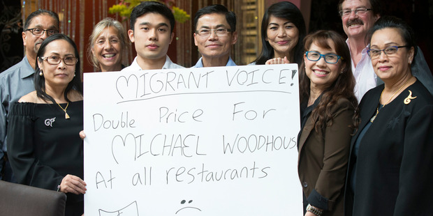 Migrants met at the Grasshopper thai restaurant to discuss the implications of the new changes to migrant workers. Photo / Nick Reed