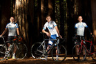 ON THEIR BIKES: Rotorua men Ben McHale, Aaron Perry and Peter Jenks are travelling to Australia in May to take part in the Juvenile Diabetes Research Foundation's One Ride 2017. PHOTO/BEN FRASER