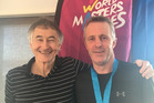 Paul Bedford (right) with fellow World Masters Games competitior and Geyser City Squash Club Bernie Dawson.  Photo/Supplied