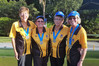 GOLDEN GIRLS: Tauranga Bowling Club's gold winning four: left to right, Margaret Roberts, Mary Solomon, Helen Harris, June Mabbett. PHOTO: Supplied