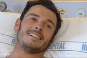 Darren Mills, 32, knows all too well what it's like to escape from a shark's jaws, having fought one off on the evening of February 7, 2014. Photo / ONE News