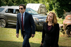 David Duchovny, left, as Fox Mulder and Gillian Anderson as Dana Scully in an episode of The X-Files. Photo / AP