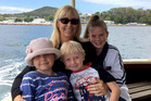 Stephanie King, 43, with her son Jacob and daughter Ella-Jane (right). Chloe-May Kabealo is at left. Photo / Facebook