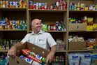 Salvation Army corps officer Ralph Overbye at the foodbank. Photo/File