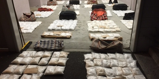 The largest methamphetamine haul in the country worth an estimated $448 million was found on Ninety Mile Beach and at Totara North in June last year. Photo / Supplied