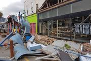 November's Kaikoura Earthquake, which caused damage to these shops in Picton, likely loaded stress on to a 'locked' fault zone in eastern lower North Island. Photo / Rob Burn/Facebook