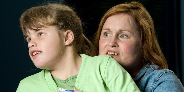Christchurch midwife Susan Parker with her foetal alcohol syndrome-damaged nine-year-old niece Anneliese in 2008.