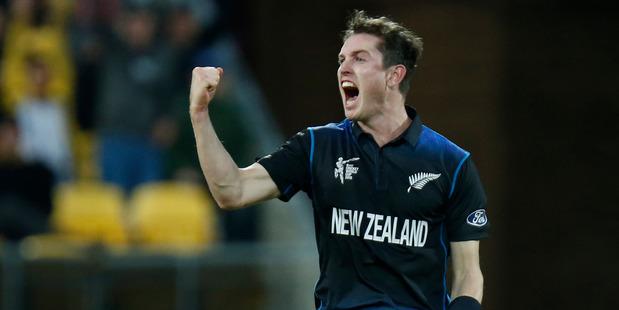 New Zealand bowler Adam Milne. Photo / Mark Mitchell.