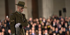 A guard stands on the cenotaph at Anzac Day dawn service at the Cenotaph, Auckland Domain on 25 April 2016. Photo / Nick Reed