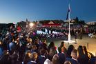Rotorua Anzac Day dawn service and parade at Muruika war cemetery at Ohinemutu. Photo/Ben Fraser