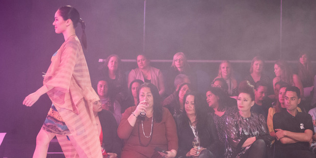 Adrienne Whitewood's Ahu collection is modelled at the Te Puia fashion show Tiki Ahua last September.  Photo/File