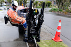 A Northpower sub-contractor uses a horizontal directional drilling rig to make ready for the installation of ultra fast broadband. Photo / File