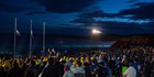 Australians and New Zealanders attend the dawn service at last year's service at Gallipoli.