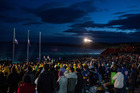 Australians and New Zealanders attend the dawn service at last year's service at Gallipoli. Photo / Getty Images