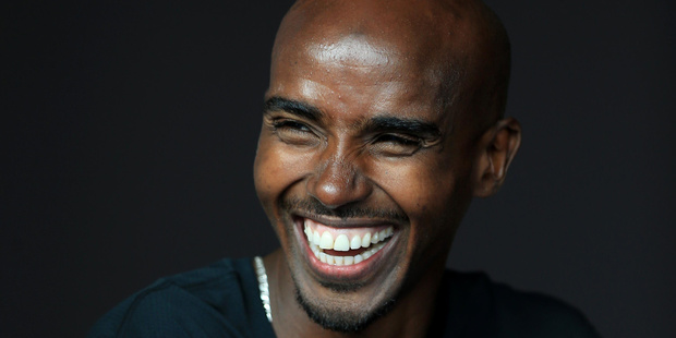 Mo Farah during a photo call ahead of the Muller Indoor Grand Prix 2017 at the Barclaycard Arena. Photo / AP
