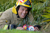 Napier senior firefighter Waka Petera jumped on the popular painted rock fever that's hit the region. Photo Duncan Brown