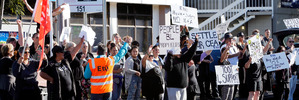 IDEA Services workers in Whangarei strike
