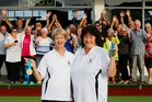 Kamo Bowling Club's Madeline Yovich, left, and Carol Neeley returned from the World Masters Games with gold medals. Photo/John Stone