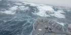Watch: Archive: New Zealand Navy vessel faces monster waves