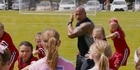 Watch: Watch: The Rock performs haka with school girls