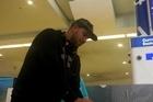 WBO#14 Razvan 'Big Foot' Cojanu arrives in Auckland.