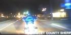 Watch: Raw: Horrifying moment cop rams biker during pursuit