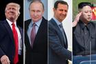 From left: Donald Trump, Vladimir Putin, Bashar al-Assad, Kim Jong Un. Photos / AP