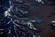 The Aoraki/Mt Cook area, as seen from space by astronaut Thomas Pesquet. Photo / Thomas Pesquet @Thom_astro