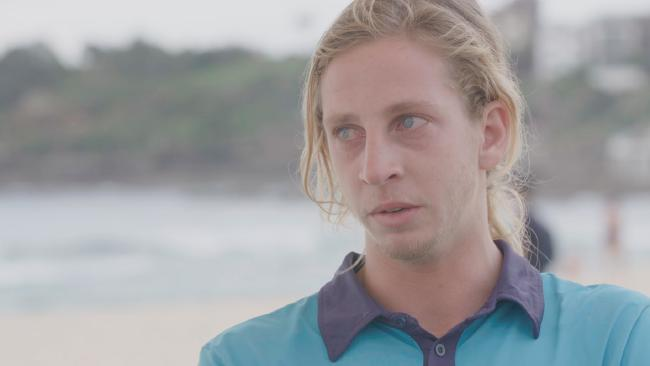 """This has got to be the worst thing I have ever seen as a lifeguard,"", says an emotional Jethro James. Photo / Channel 10"
