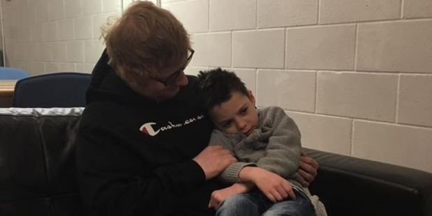 Loading Ed Sheeran with Ollie Carroll. Photo / Facebook