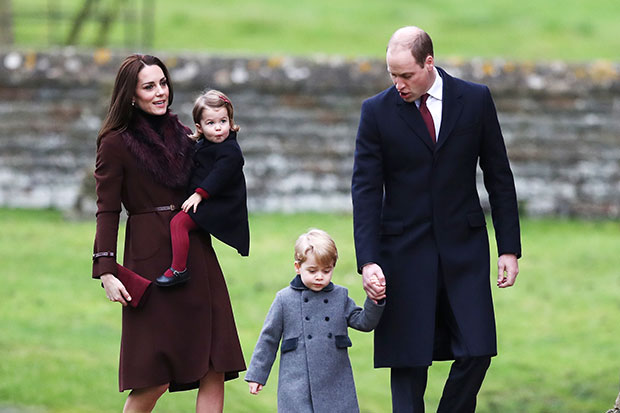 Kate and William with George and Charlotte. Photo / Getty Images
