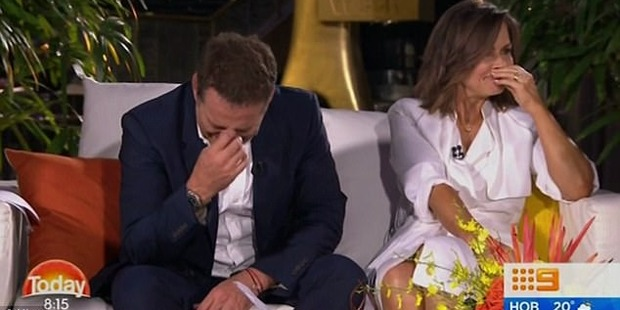 Loading The Today Show hosts could barely keep it together. Photo / Channel Nine