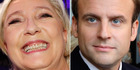 Marine Le Pen and Emmanuel Macron will face off in the French presidential election on May 7. Photo / AP