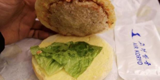 The Koryo Burger is always served stone cold. Photo / Twitter