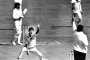 """Richard Hadlee during the first test against Australia on 21 February 1986 when he joined the elite """"300 club""""."""