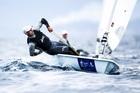 Sam Meech won today's Laser race. Photo / Sailing Energy