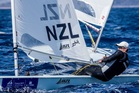 Sam Meech collected a sixth in the second race. Photo / Sailing Energy