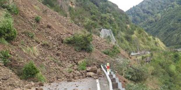 Two slips have closed the Manawatu Gorge between Palmerston North and Woodville. Photo/NZ Transport Agency