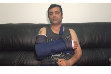 The Auckland shopkeeper has been unable to return to work since the attack last month. Photo / Supplied