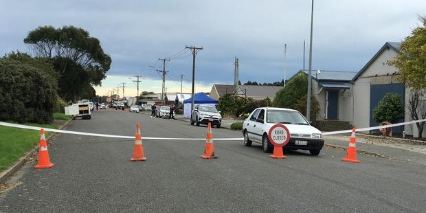 Loading The scene in Otepuni Ave in Invercargill. Photo / Otago Daily Times