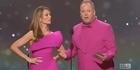 Watch: Watch: Logies presenters mock Amber Sherlock's jacket meltdown
