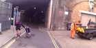 Watch: Watch: 'Danger Dad' Cyclist pushes pram on road
