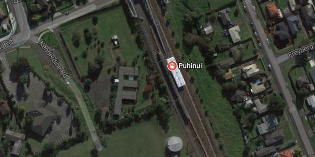 The man attempted to ride the train at Puhinui train station.