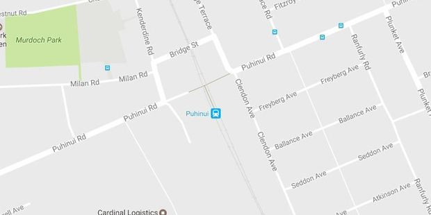 The man tried to ride the moving train at Puhinui Rd Station, near Otahuhu. Photo / Google Maps