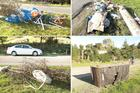 Dumped rubbish lines Cashmere & Henderson Roads. Photos / Martin Hunter, Christchurch Star