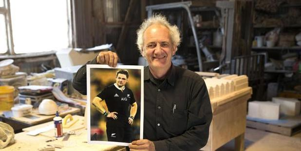 Lyttelton sculptor Mark Whyte has been commissioned to craft a bronze statue of former All Black captain Richie McCaw. Photo / Star.Kiwi